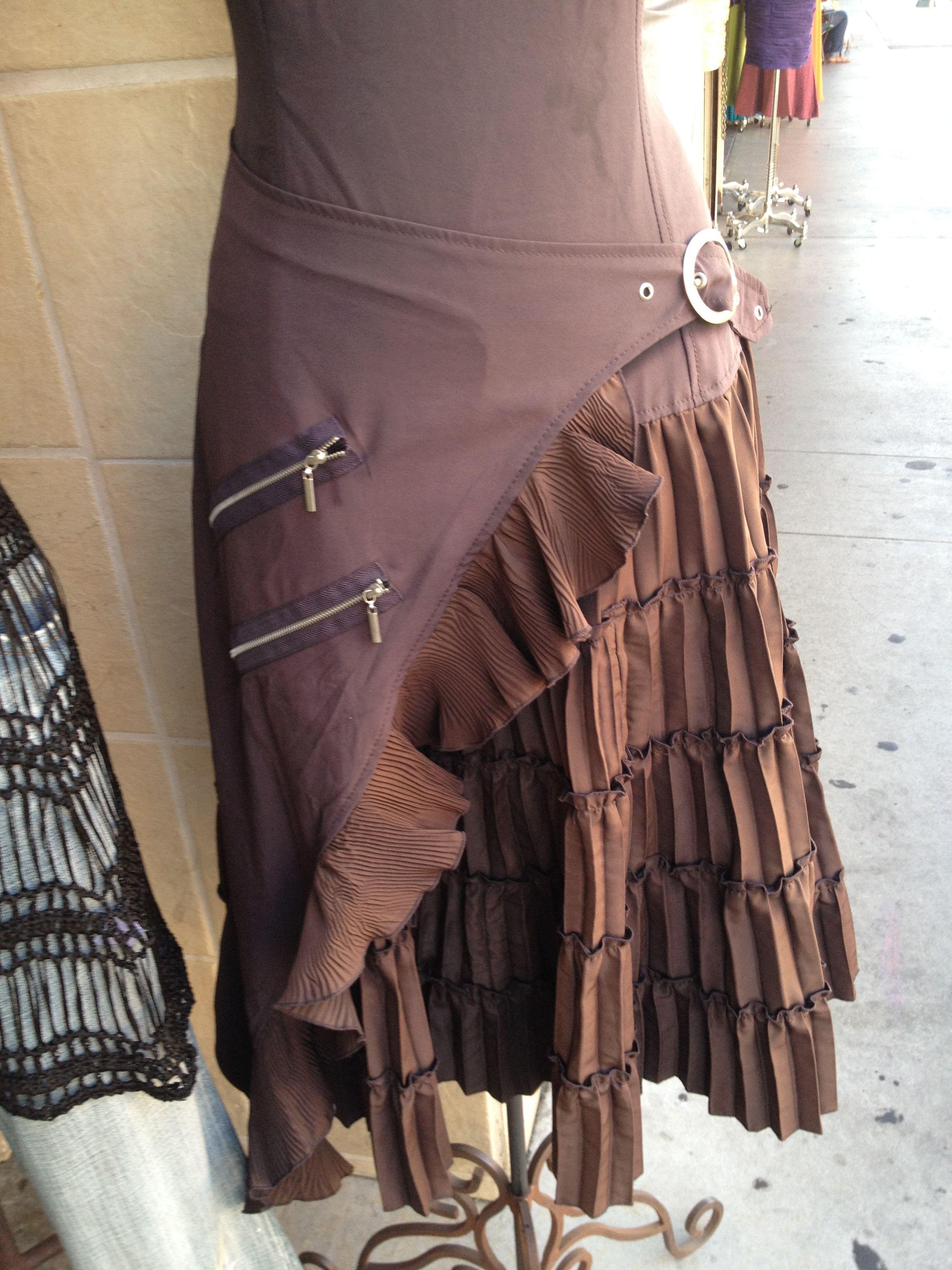 ruffled, utility belt skirt
