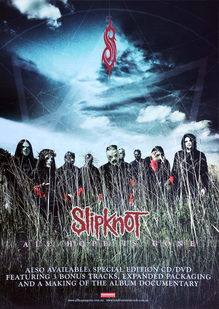 662356495d SLIPKNOT - All Hope Is Gone Album Promo Poster (Posters, Regular Sizes) | Rare  Records