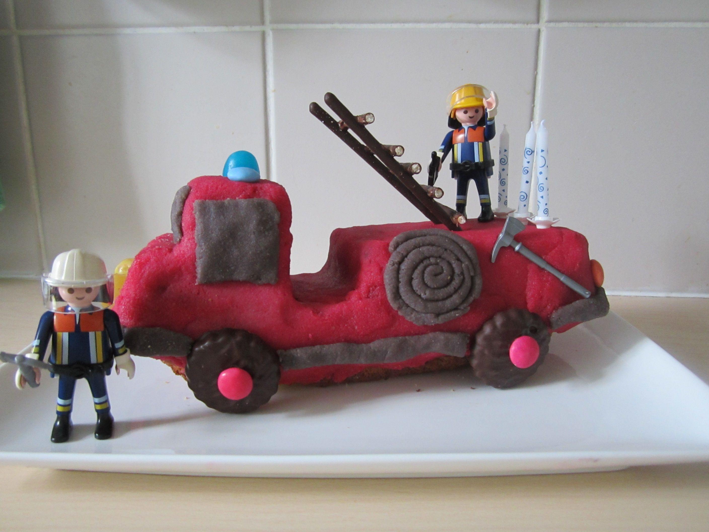 gteau camion de pompier pour lanniversaire de mon petit garon 3 ans