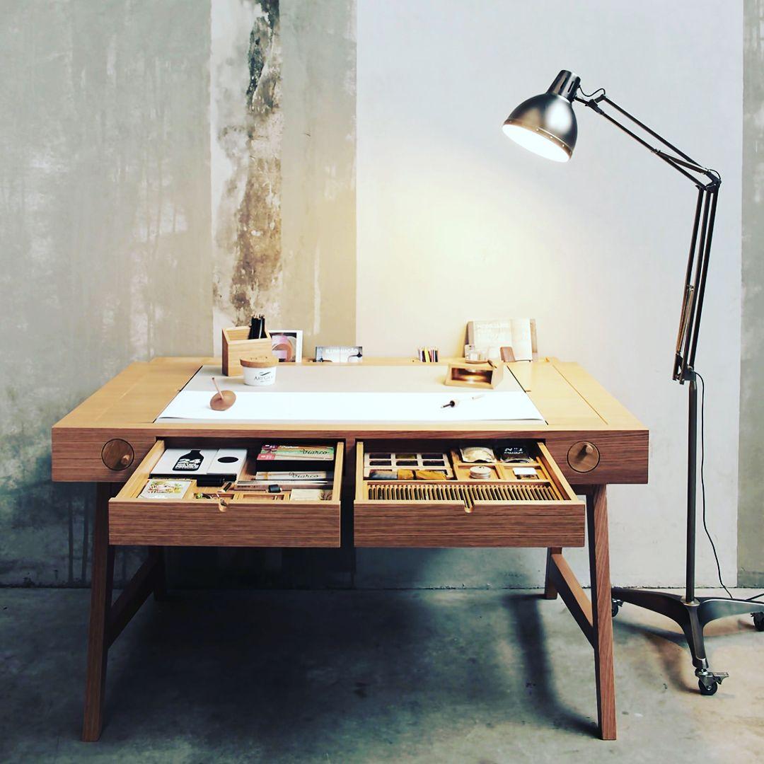 Minimalist Homeoffice Design: Risko Drawing Desk By Digitalab For Viarco @p.roduct