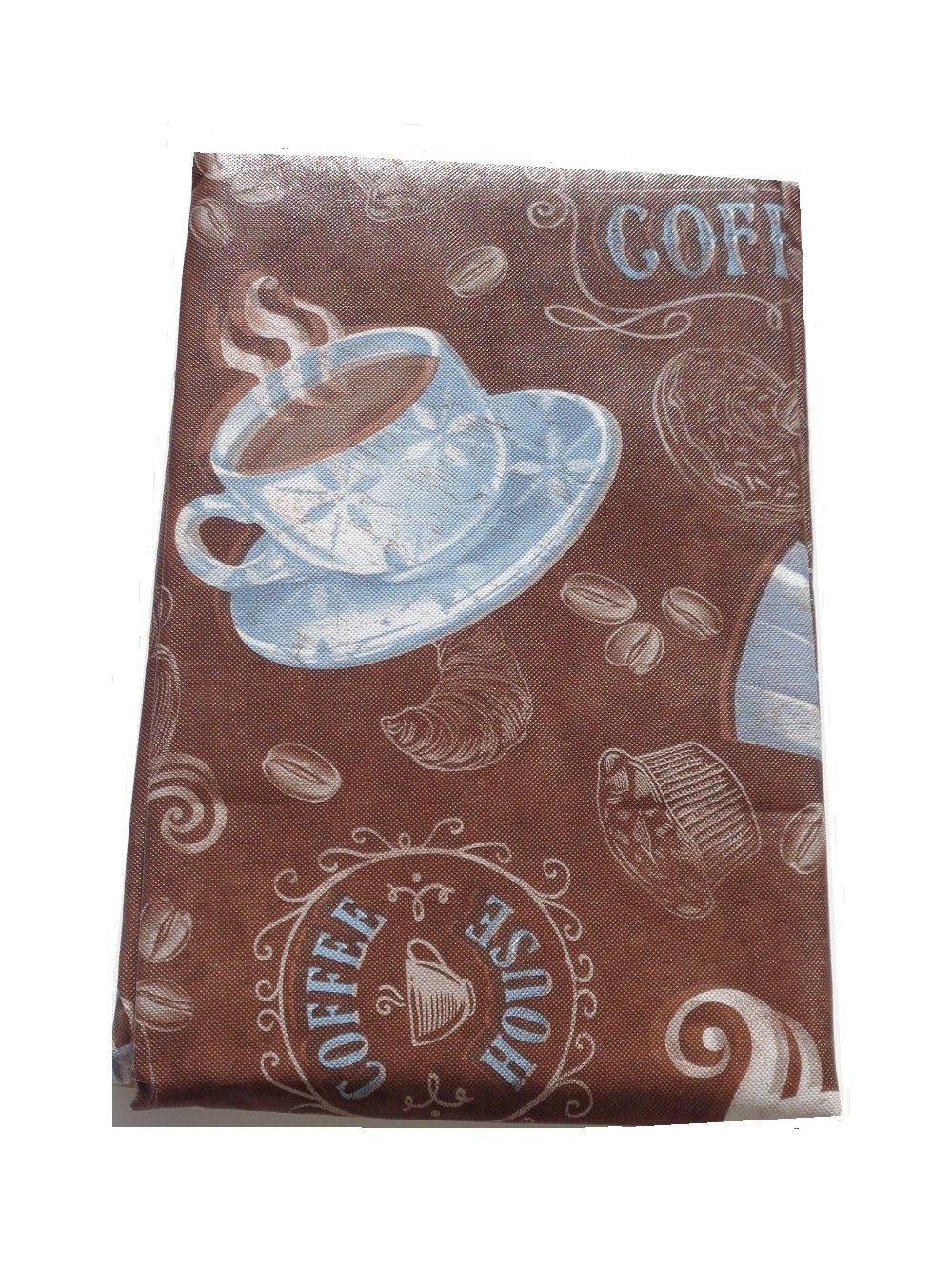 7a4c35d44e7 Brown+Blue+Coffee+Cups+Round+Tablecloth $15.95 | Wake up & smell the ...