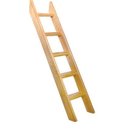 University Loft Graduate Series Bed Ladder Natural Finish For