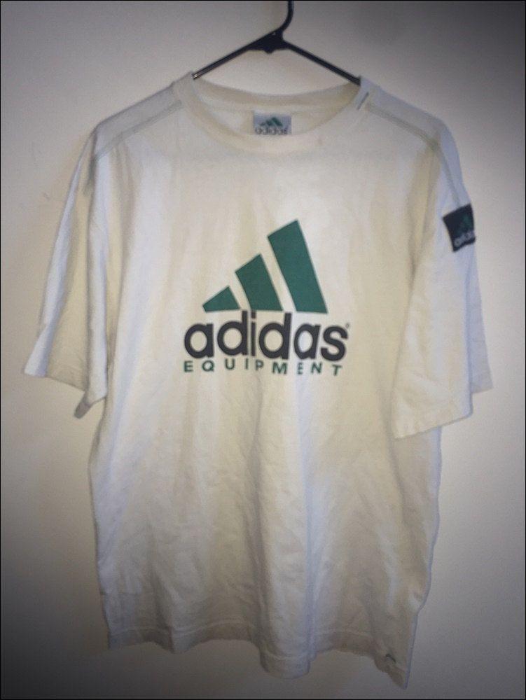 Vintage 90 S Adidas Equipment Og Logo Shirt Size Large By Rackraidersvtg On Etsy Long Sleeve Tshirt Men Logo Shirts Mens Tops