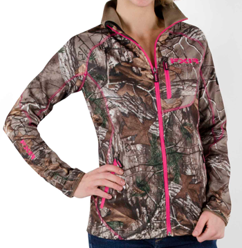 FXR Women's ELEVATION FULL ZIP FLEECE - CAMO (2015) - Realtree Xtra