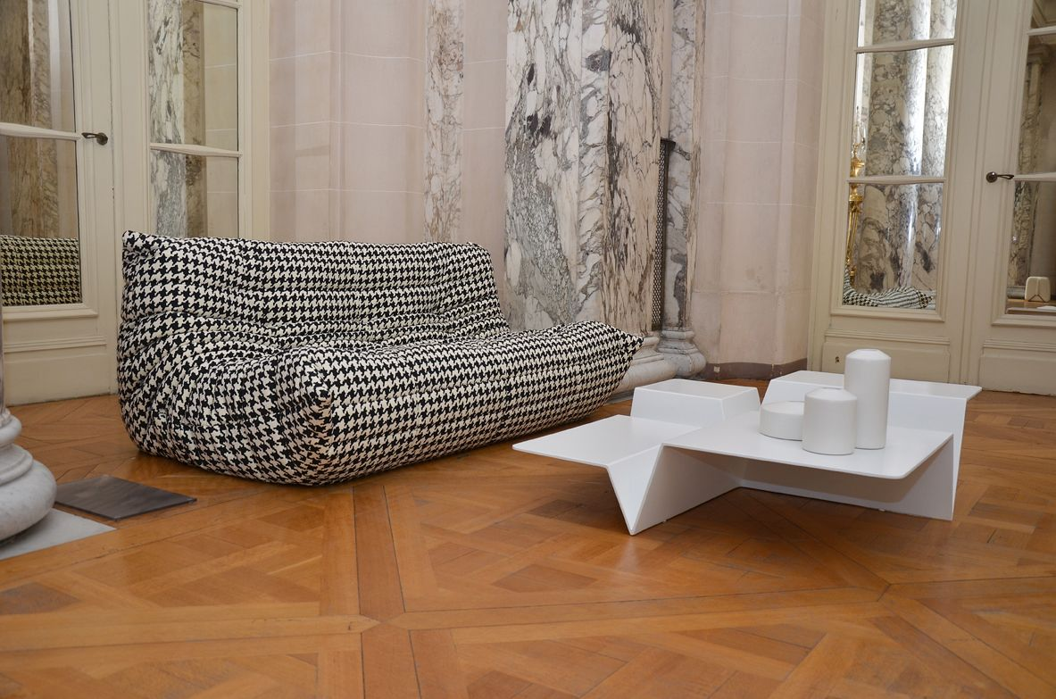 Togo sofa and cuts occasional table french ambassador palace event in istanbul ligneroset - Togo ligne roset ...