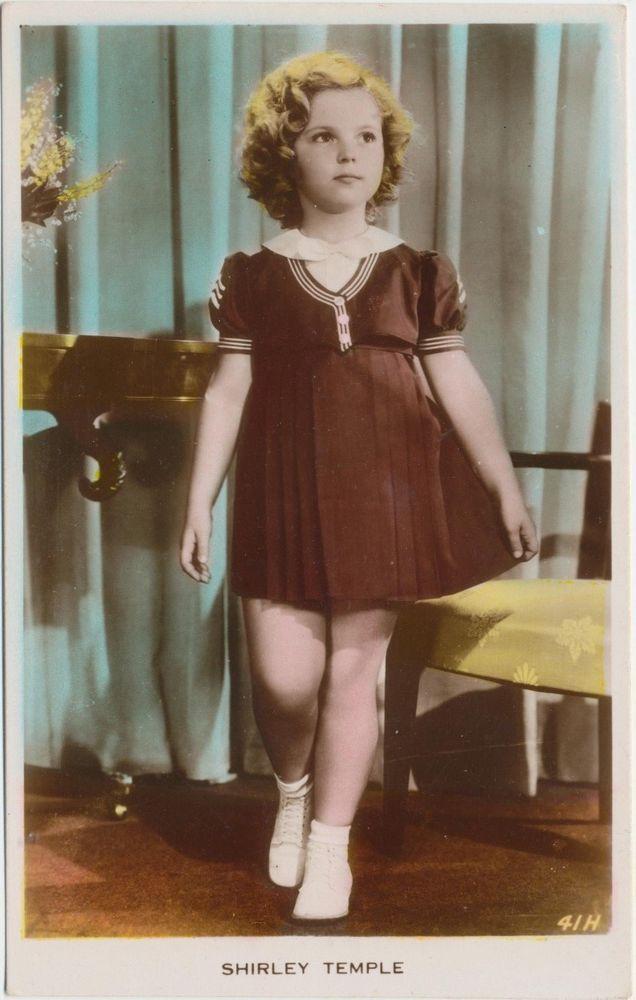 Shirley Temple Curly Hair Antique Vintage Original Real Photo Postcard RPPC 11   Entertainment Memorabilia, Movie Memorabilia, Photographs   eBay!