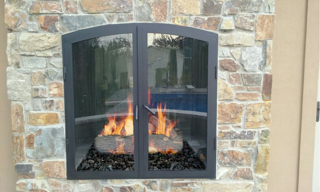 Indoor Outdoor Custom Gas Fireplaces - Acucraft | Fireplaces Favs ...