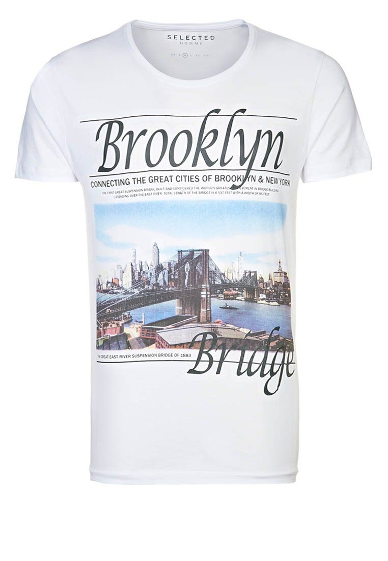 Brooklyn Supply Co. GRAPHIC TEE - T-shirt med print - grey