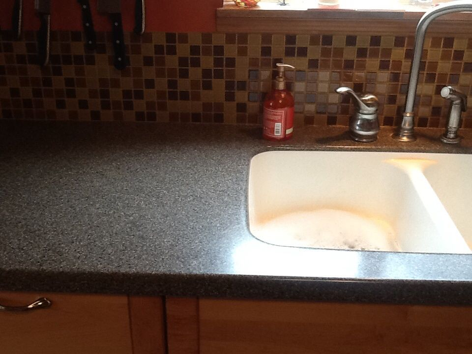 Corian Maui Countertop Pictures With Maching Back Splash