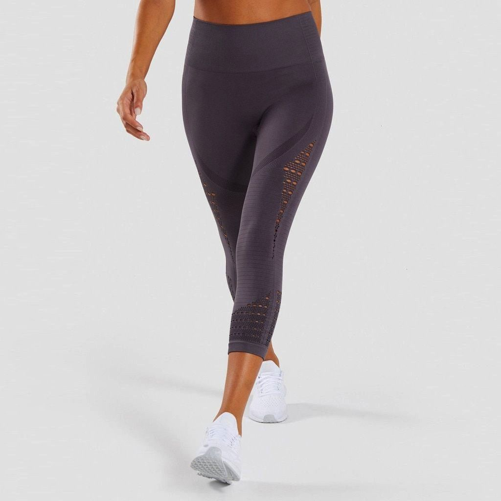 #trousers #athletic #leggings #running #fitness #elastic #leisure #casual #hollow #waist #pants #lad...