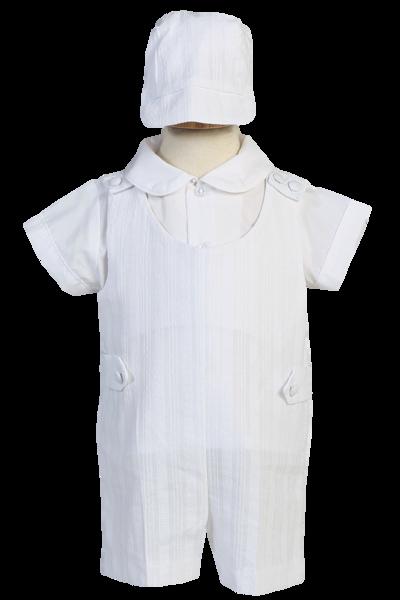Baby Boy Christening Baptism Formal Smart Suit Outfit Jumper Wedding White 0-18M