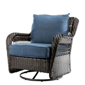 Allen Roth Glenlee Brown Woven Metal Swivel Glider Conversation Chair S With Cushioned Seat Lowes Com Allen Roth Patio Furniture Outdoor Chairs Chair