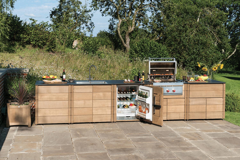 Esszimmer ideen im freien linear kitchen  grill in   pinterest
