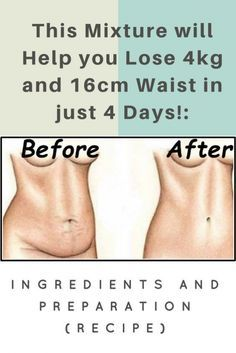 This Mixture Will Help You Lose 4 KG And 16 CM Wai