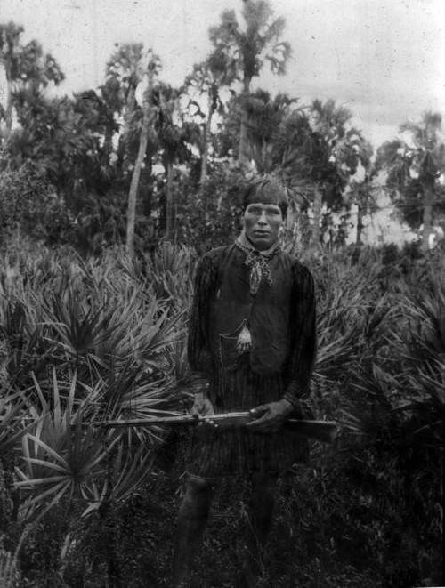 Seminole indian in the Everglades