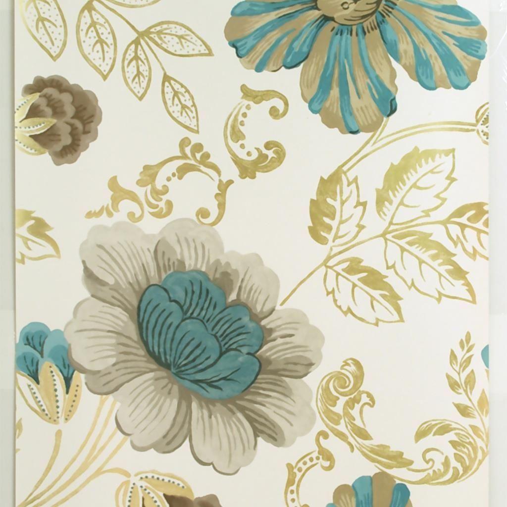 Amalienborg teal wallpaper designers guild deco en - Designers guild papel pintado ...