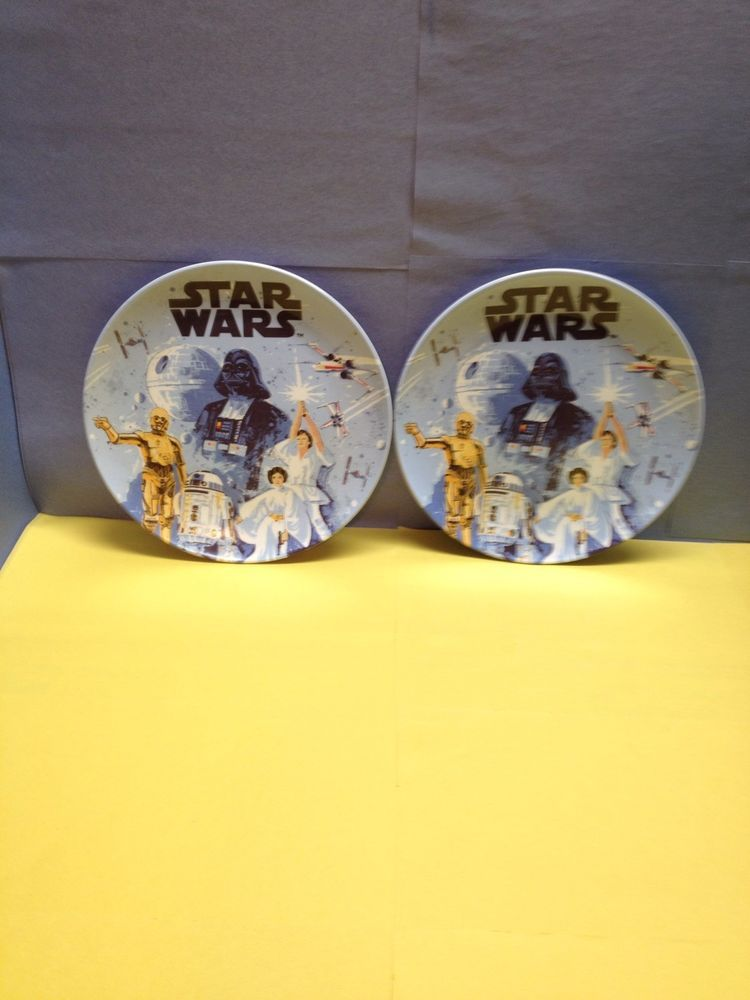 2 Pottery Barn Kids Star Wars Plastic Plates Pottery