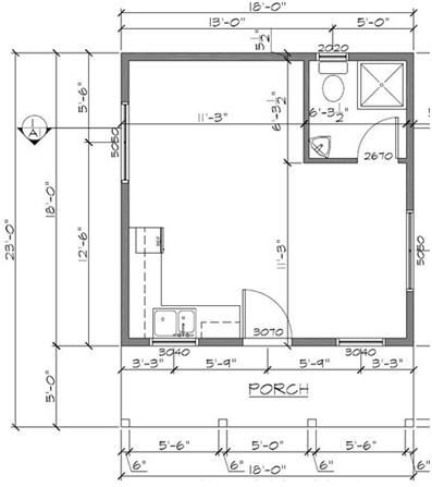 Free Cottage Plans From Houseplansarchitect Com Cottage Plan Backyard Cottage Small Cottage Plans