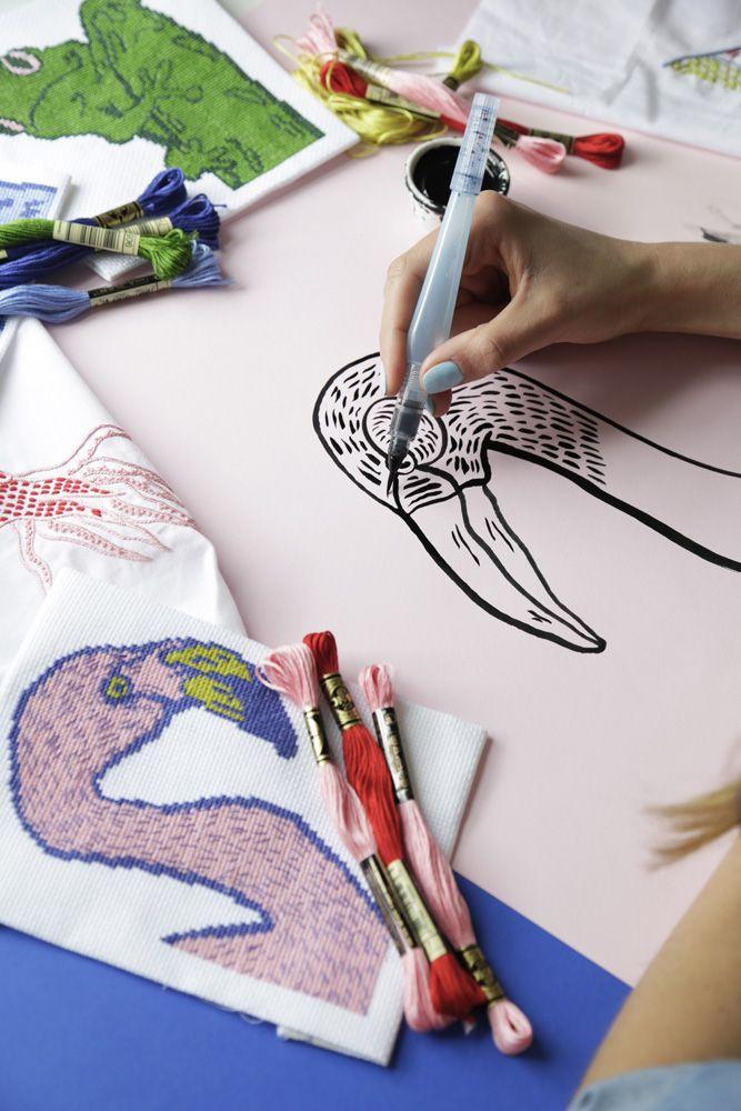 rencontre-avec-créatrice-Melanie-Johnsson-pour-DMC-dessin