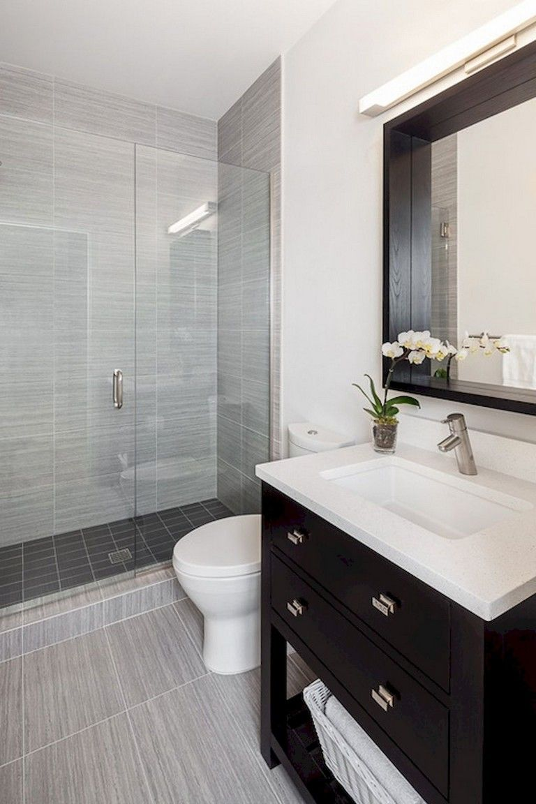 40 Awesome Studio Apartment Bathroom Remodel Ideas Small Bathroom Remodel Modern Small Bathrooms Small Bathroom Vanities