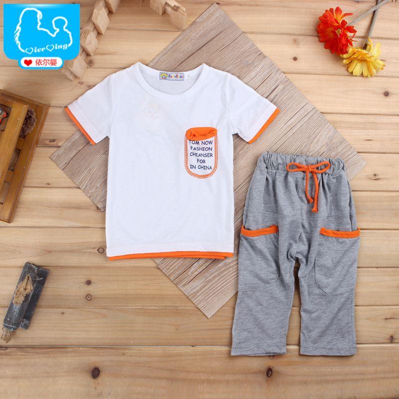 c8034b0de Children Suits Summer Boy Clothes Sets Cotton Sport Suits Letter ...