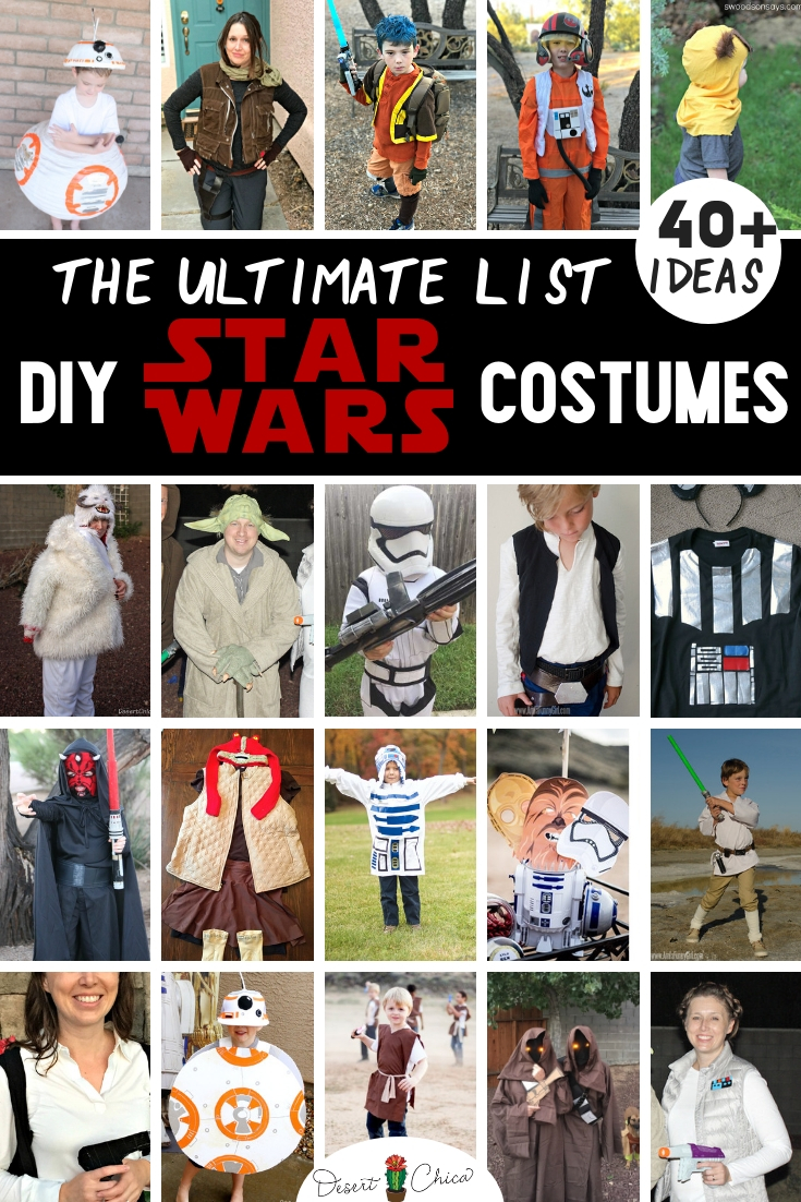 Over 14 DIY Star Wars Costume Ideas  Star wars costumes diy, Star