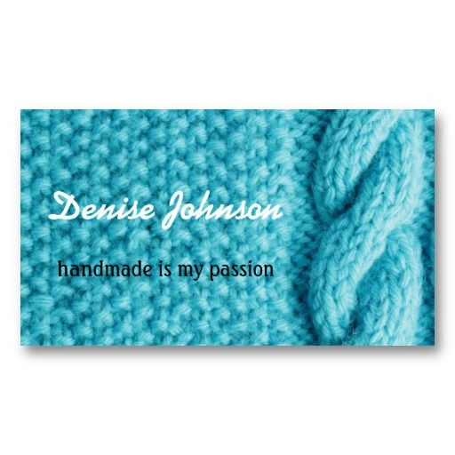 Knitting Crocheting Handmade Business Card Templates Handmade Business Cards Loom Knitting Projects Machine Quilting Designs