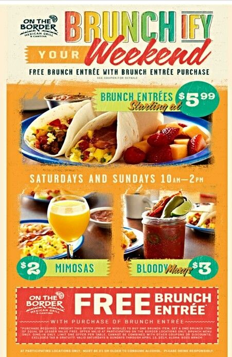 enjoy a buy one get one brunch on jjo at on the border in tyler