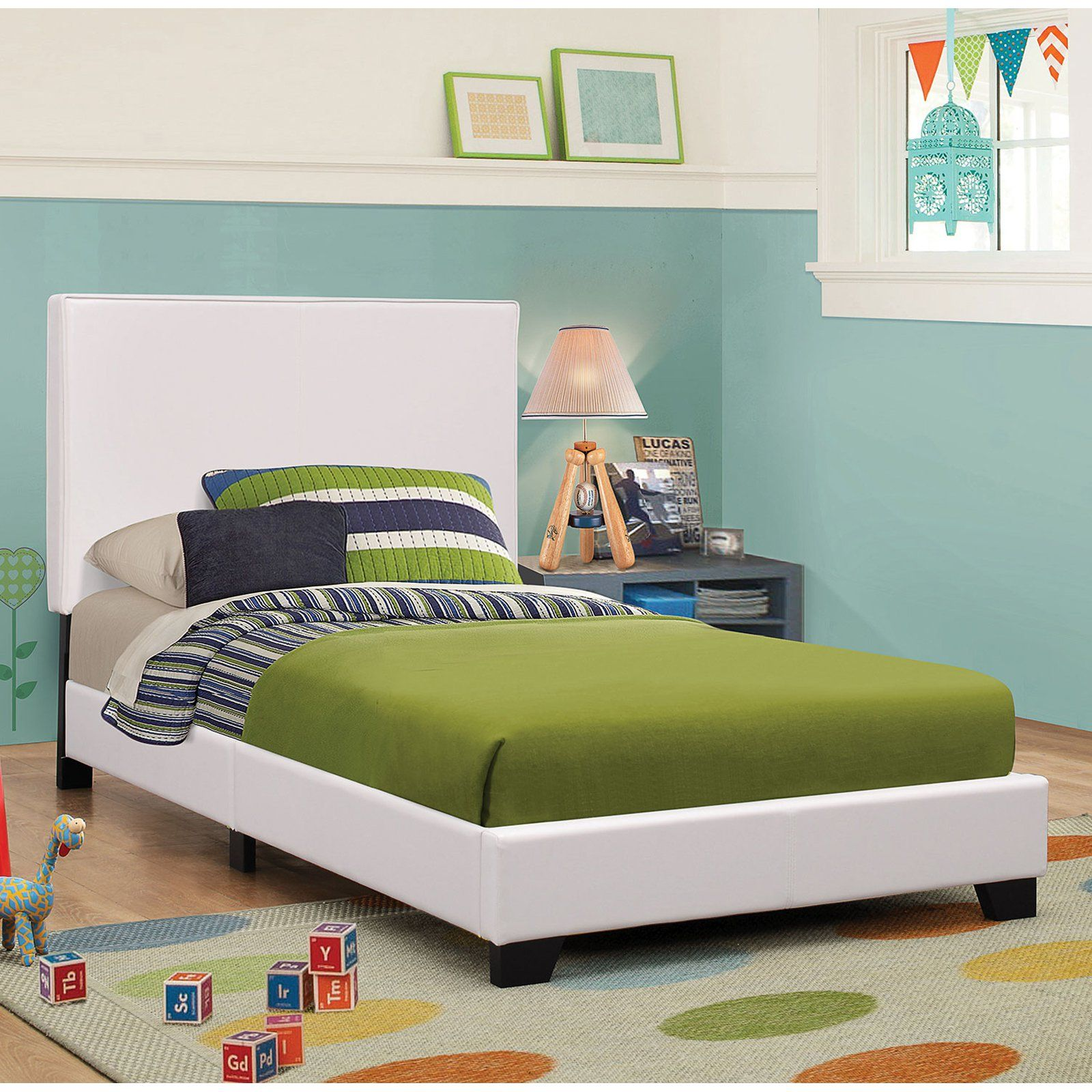 Coaster Furniture Upholstered LowProfile Bed, Size Full