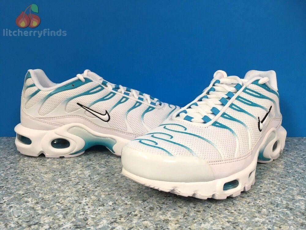 info for 74c37 137fa Nike Air Max Plus TN Mens Size 7 Ultra Rare Blue Fury White ...