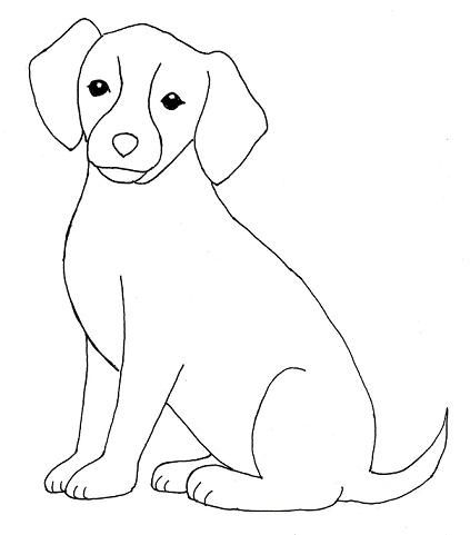 Line Drawing Of Dog