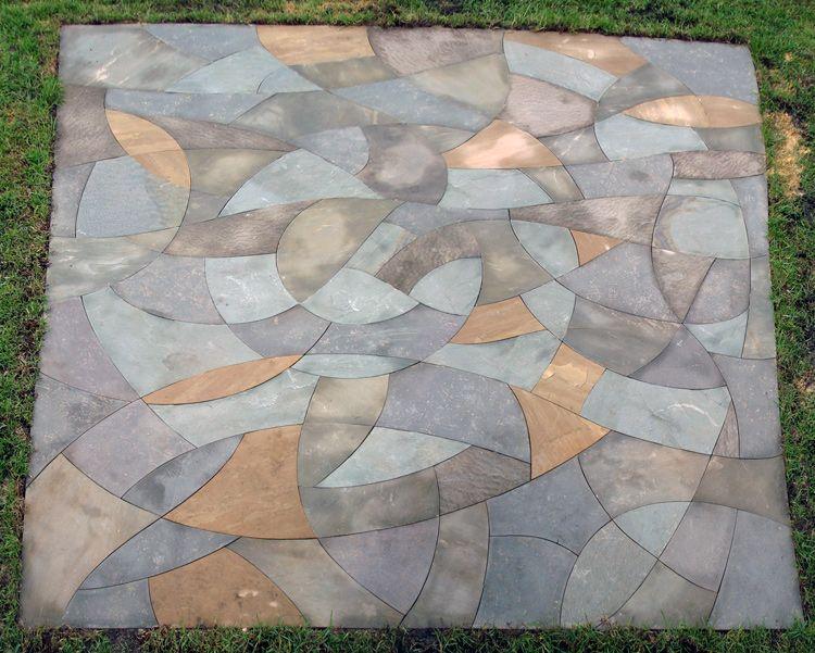 Blue Spiral A Public Stone Mosaic Hammerhead Stoneworks Asheville Nc Stone Mosaic Mosaic Public Art
