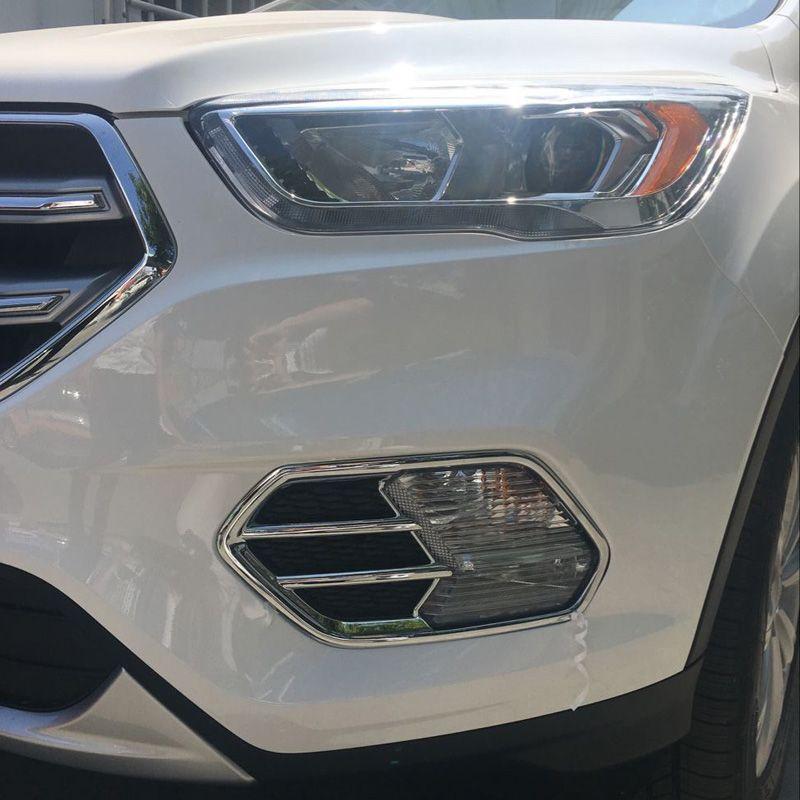 Fit For Ford Escape Kuga 2017 Front Fog light Lamp Cover Bezel Fog ...