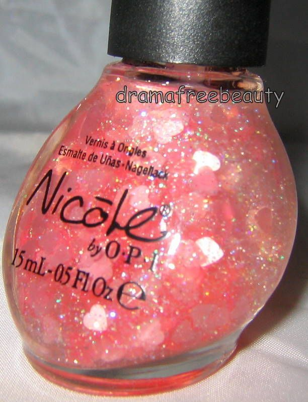 Nicole by OPI Nail Polish *LOVE YOUR LIFE* Pink Valentine Heart Holo ...