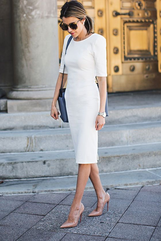 cad43aa81974f Exclusive We Built This Midi Ivory Midi Dress in 2019 | Dresses ...