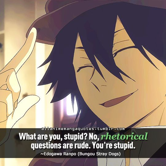 Anime With Rude Quote: The Source Of Anime Quotes & Manga Quotes