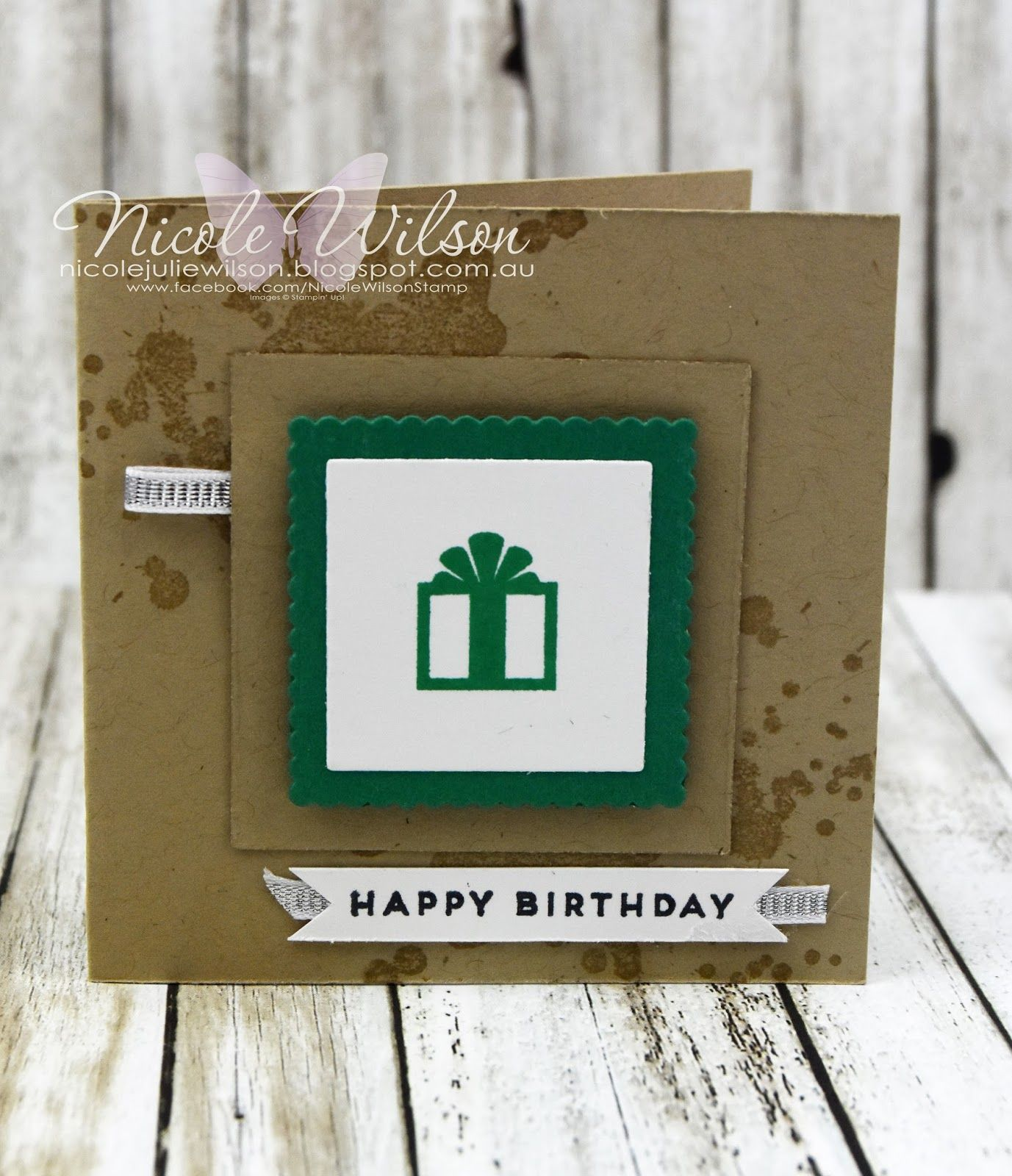 Nicole Wilson Independent Stampin' Up!® Demonstrator - Onstage Live Brisbane Display Board mini notecard happy birthday Sample using hostess set Iconic Occasions. www.facebook.com/NicoleWilsonStamp #stampinup #onstage2016 #brisbanelive