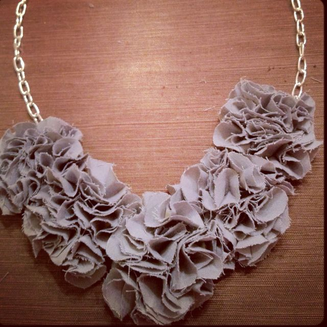 My DIY fabric flower necklace :)