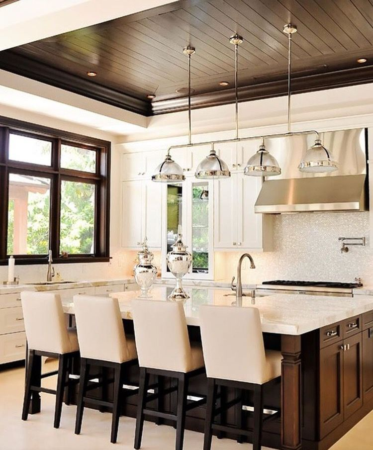 Coffered Ceiling Idea For Breakfast Nook Transitional Kitchen Design Interior Design Kitchen Kitchen Interior