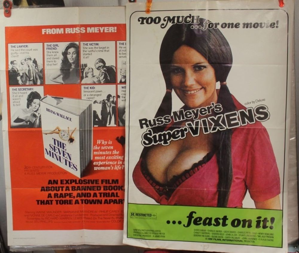 Russ Meyer 2 one-sheets THE SEVEN MINUTES - SUPERVIXENS