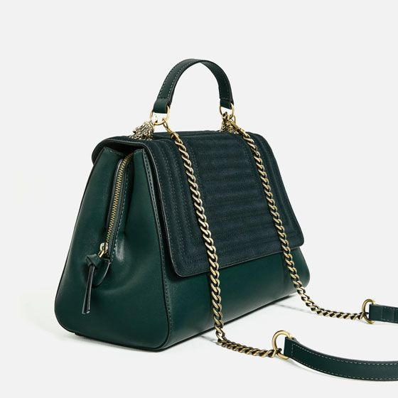 Schoudertassen Zara : Image of city bag with metallic details from zara gift