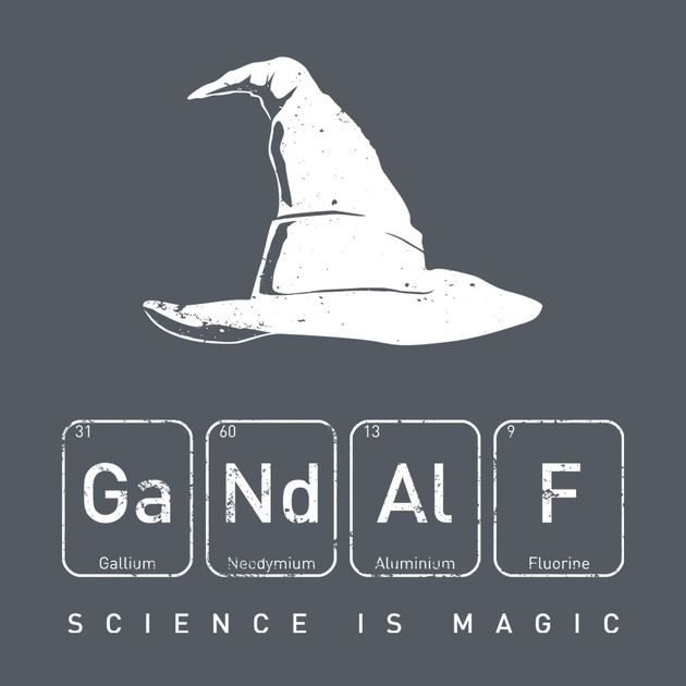 Gandalf's Magical Science T-Shirt #teedesign