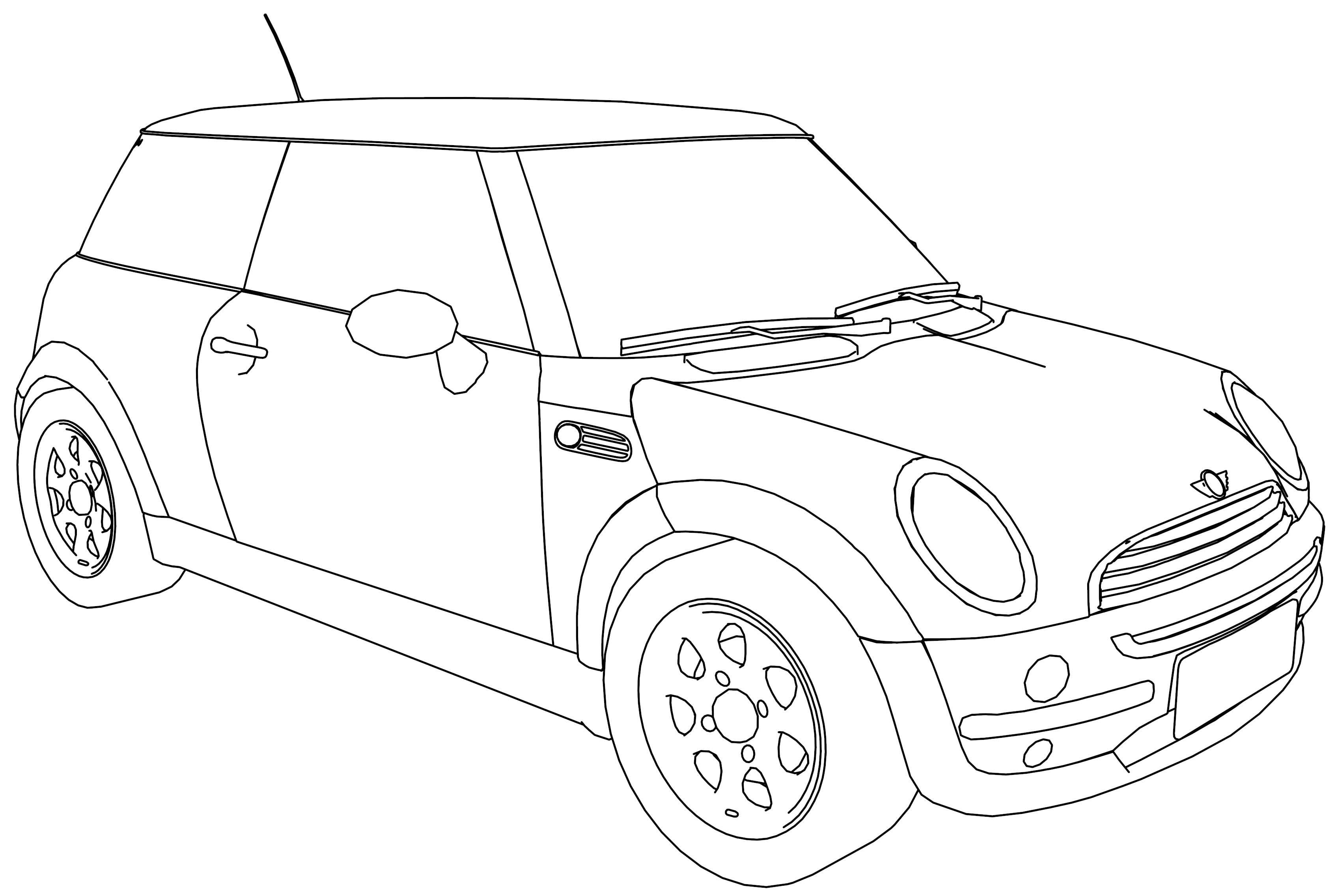 Nice Bmw M5 Mini B Class Car Coloring Page Thema