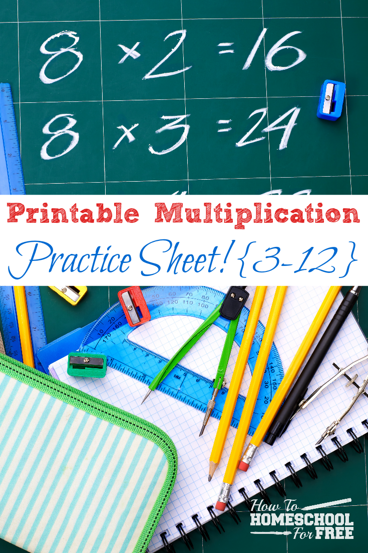 Here is a FREE printable multiplication practice sheet for numbers 3 ...