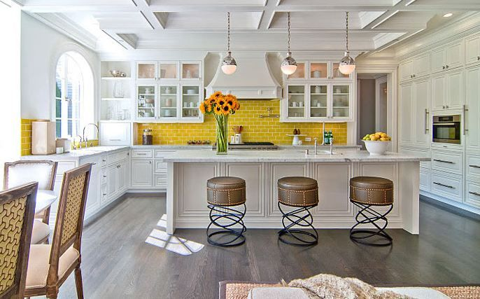 Kitchen With Yellow Tile 2 Kitchen Tiles Design Beautiful Kitchens Kitchen Design