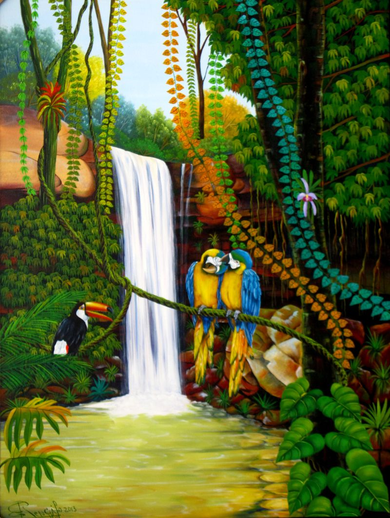 Selva tropical 800 1062 pintor colombiano for Pintor y muralista colombiano