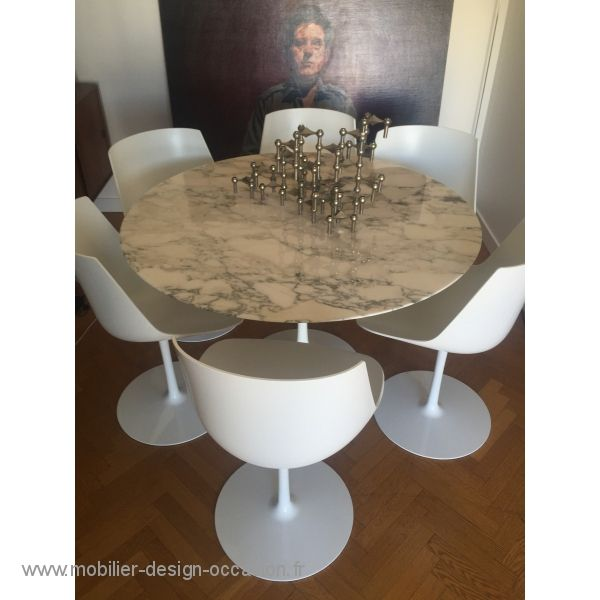 table knoll eero saarinen 47' (120 cm)marbre arabescato finition