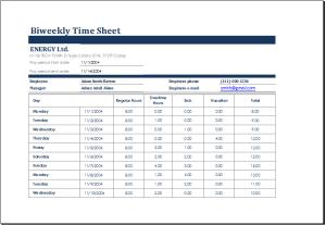 Biweekly Time Sheet Download At HttpWwwDoxhubOrgTimesheet