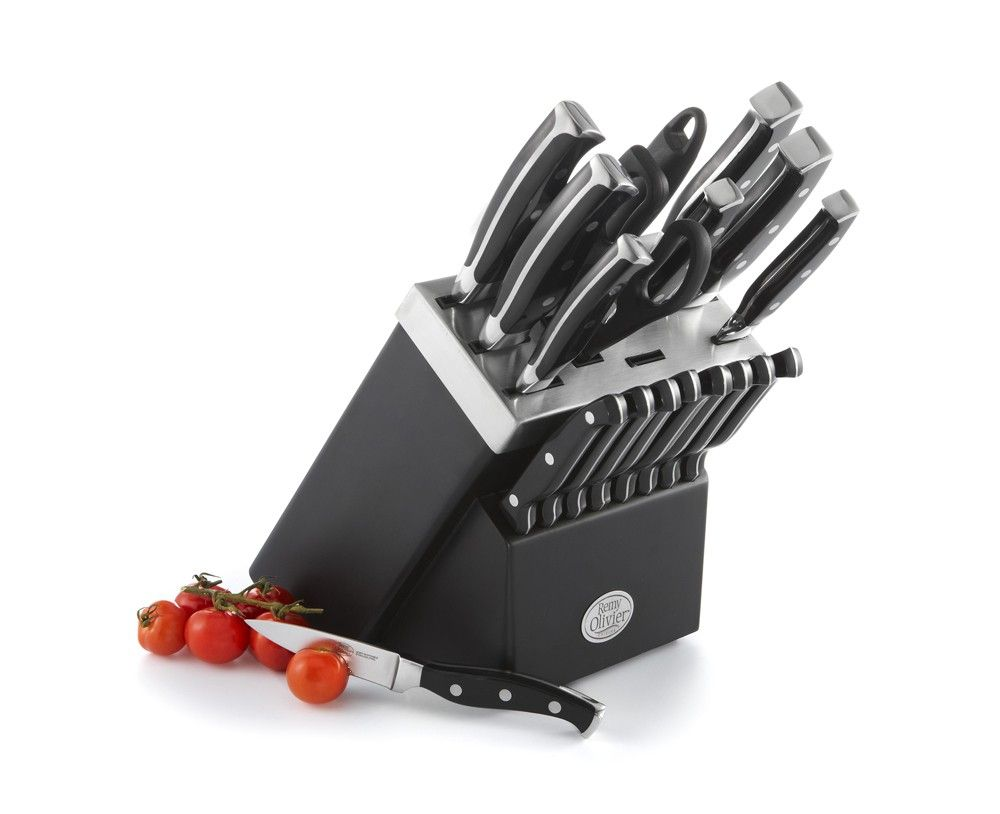 Ombre Knife Set with Wooden Block, 19 pc - Knives - Kitchen & Food ...