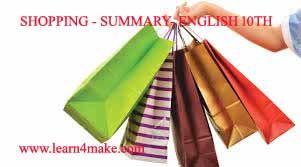 SHOPPING - SUMMARY- ENGLISH 10TH